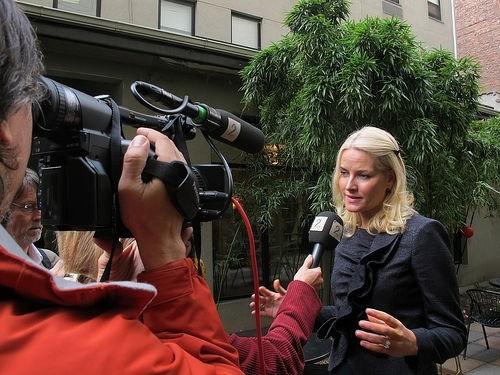 Метте-Марит дает интервью
