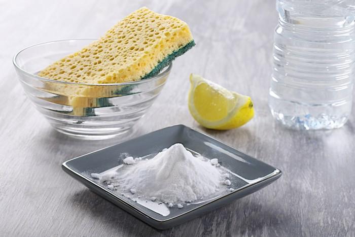 Сода, лимон, губка и уксус
