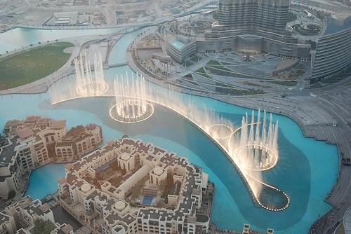 фонтан Бурж Халифа, Дубай