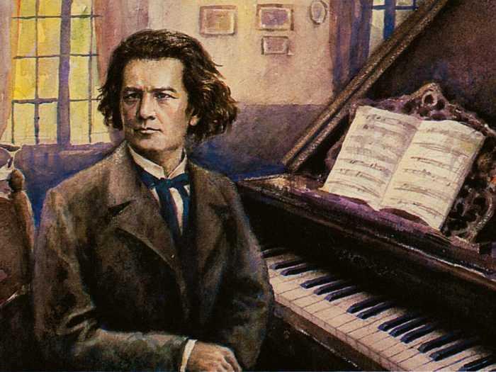 Портрет композитор масляной краской