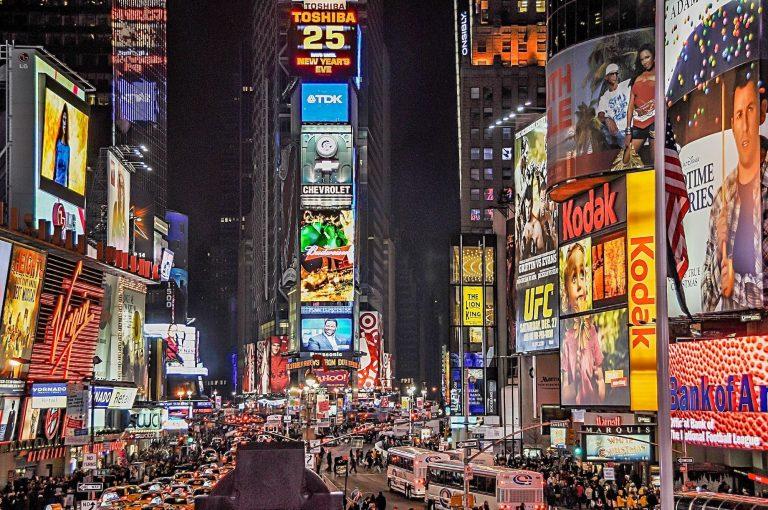 10 Фактов о Таймс-сквер в Нью-Йорке