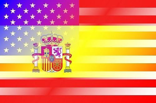 американский и испанский флаг