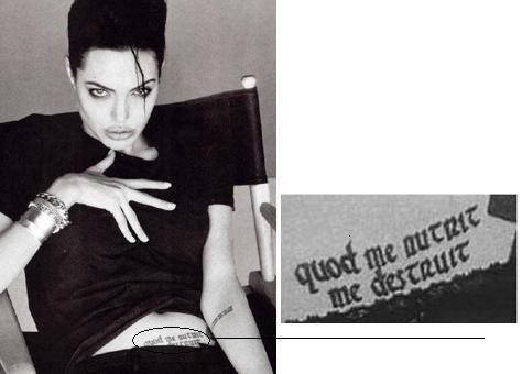Татуировка на животе Джоли