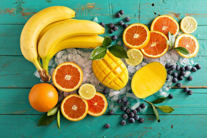 Апельсин, банан, манго, грейпфрут