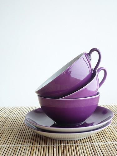 Фиолетовая чашка
