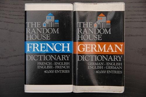 немецкий и французкий словари