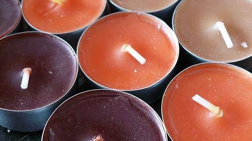Свечи осенних тонов