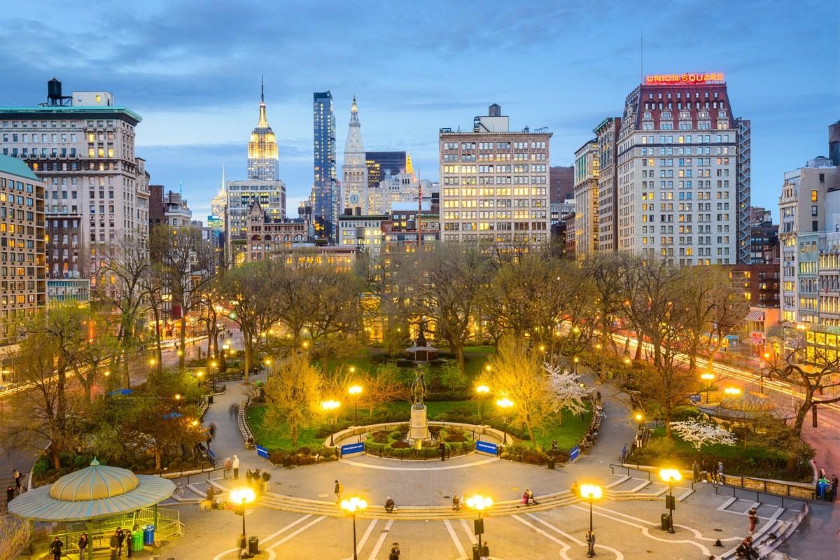 Парк Юнион-Сквер Нью-Йорк