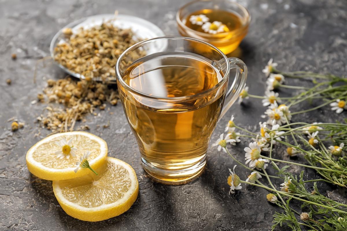 Zitronen-Kamillen-Tee