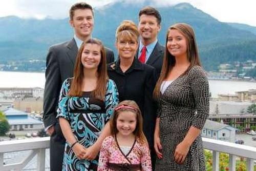 Сара Пэйлин с семьей