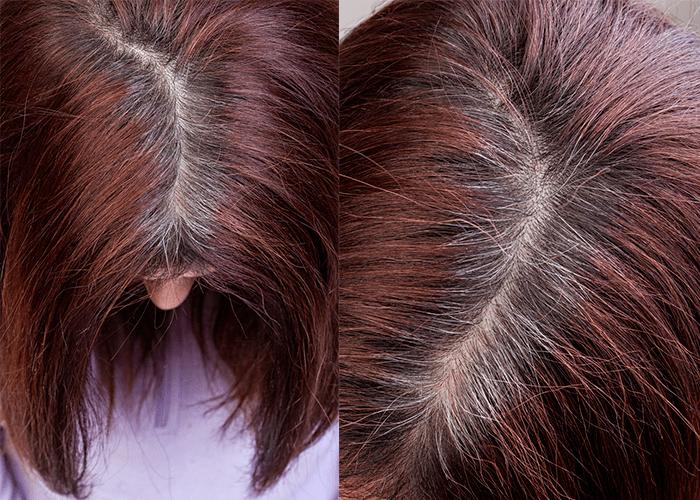 Седые корни волос