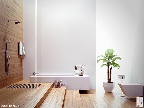 Вазон в ванной комнате
