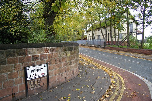 улица Penny Lane, Ливерпуль