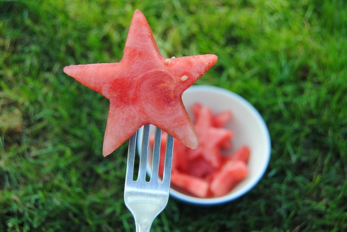 звездочка из арбуза