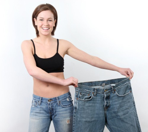 девушка похудела
