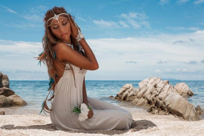 Пляжный стиль невесты