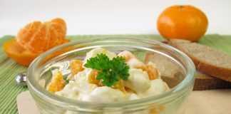 Салат к Новому году из мандаринов