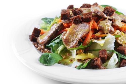 Новогодний салат с гречкой