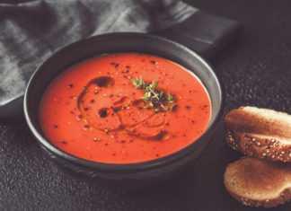 Как готовится томатный суп с оливками