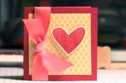 Очень простая валентинка, сделанная своими руками
