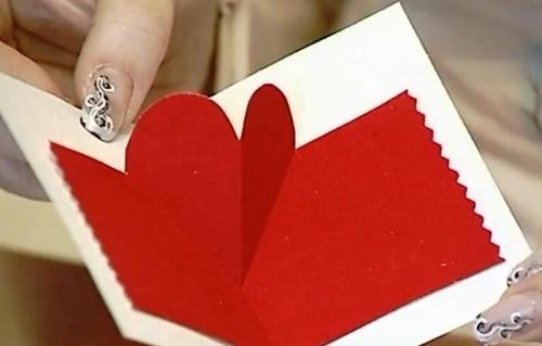 Валентинка для влюбленных своими руками