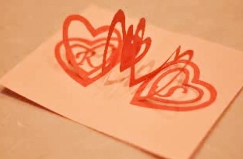 Творение своими руками валентинки для любимого