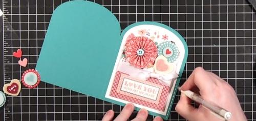 Создание валентинки по технике скрапбукинг