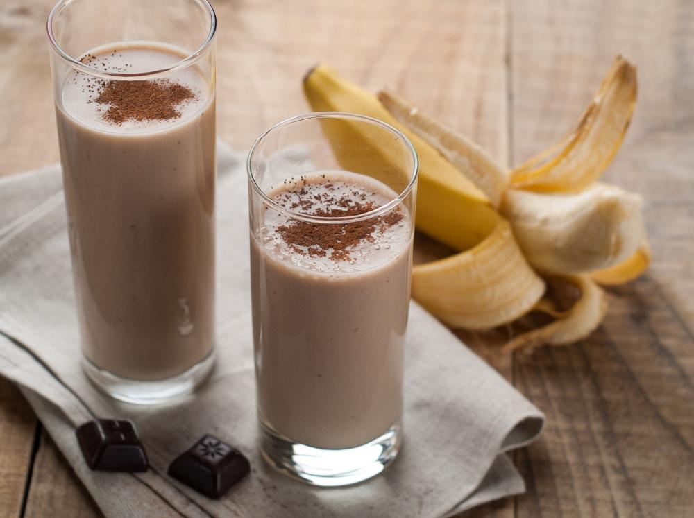 Соевый смузи с бананом и какао