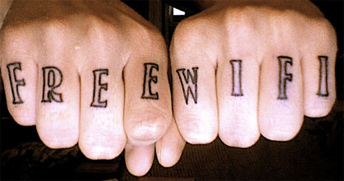 татуировка Вай-Фай (Wi-Fi)