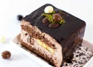 Банановый торт с шоколадной глазурью своими руками