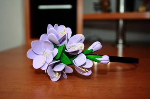 Ободок-Крокус-фиолетовый