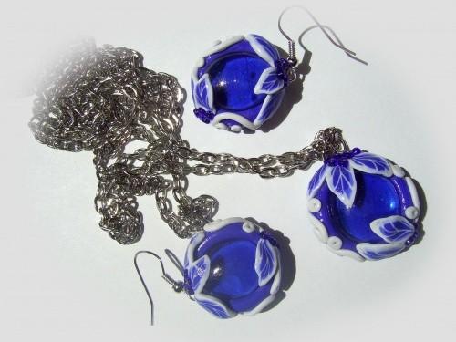 Набор бижутерии «Синяя мечта» из полимерной глины