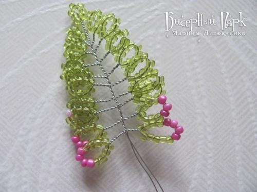 плетению Вереска из бисера