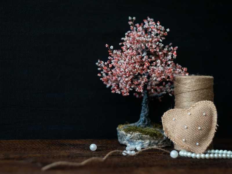 Схема плетения деревьев из бисера