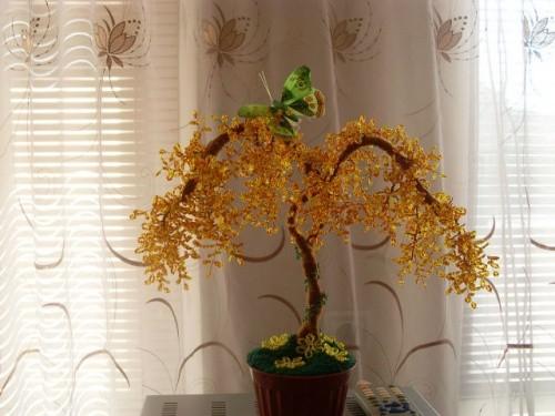 Дерево из бисера «Акация»