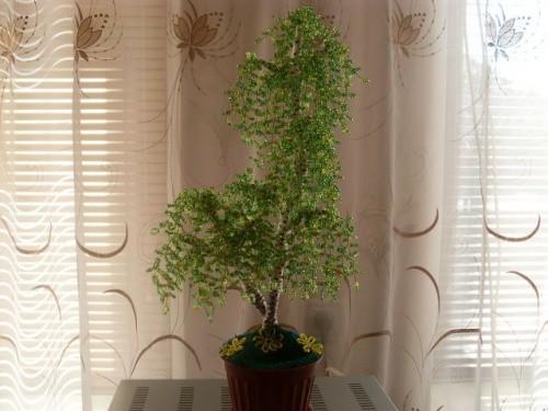 Деревья из бисера «Березки»