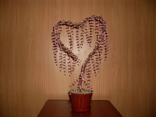 Дерево из бисера «Дерево любви»