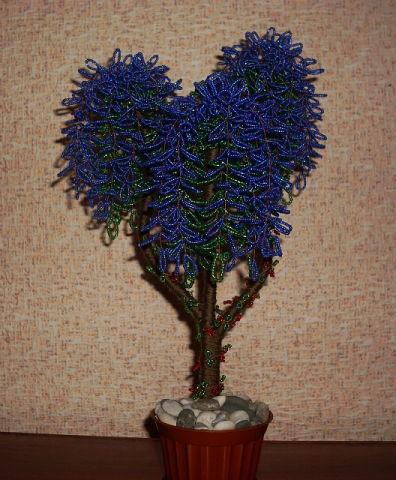 Деревья из бисера «Глицинии»