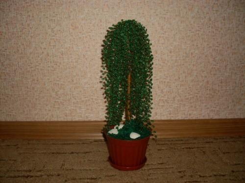 Дерево из бисера «Ивушка»
