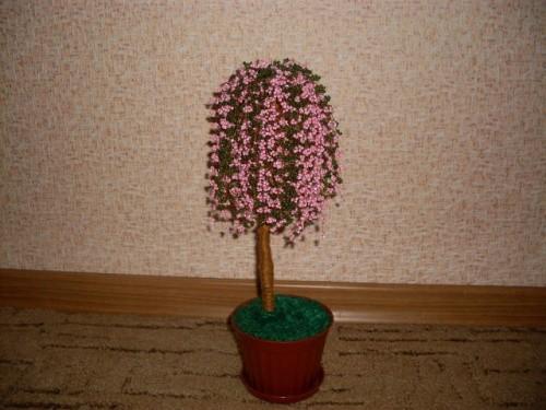 Дерево из бисера «Сакура»