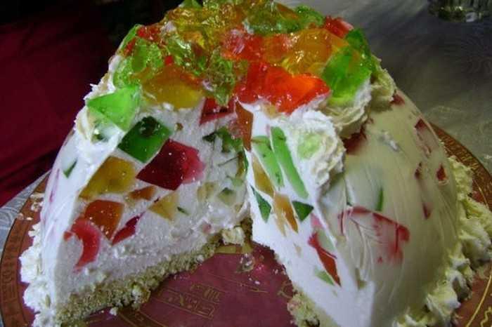 Рецепт торта «Стеклянная фантазия»