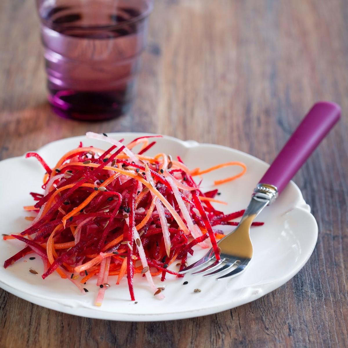 7 замечательных осенних салата Свекольный салат с грушей и морковью