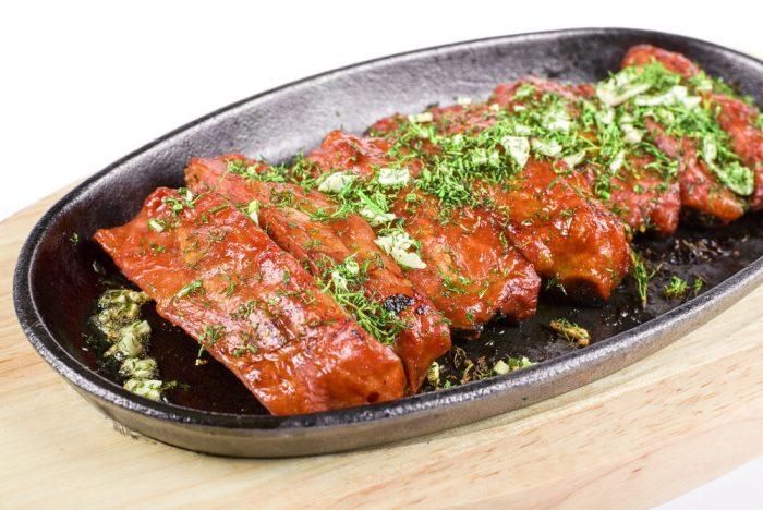 Маринованное мясо на сковороде