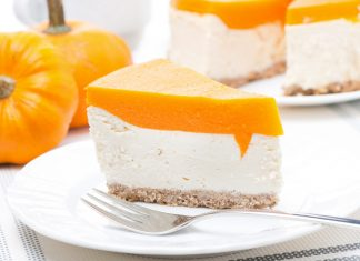 Сырный чизкейк из тыквы