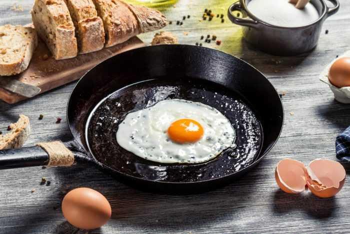 Яичница на сковородке