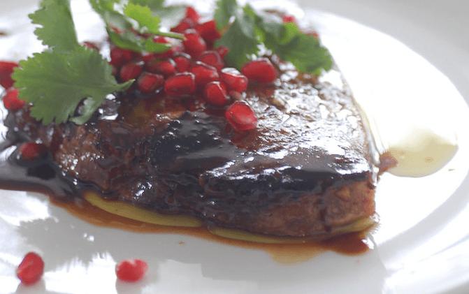 Новогодние рецепты с гранатом - Палтус с гранатовой начинкой