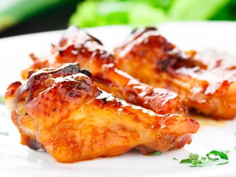 Куриные крылышки с медовым соусом