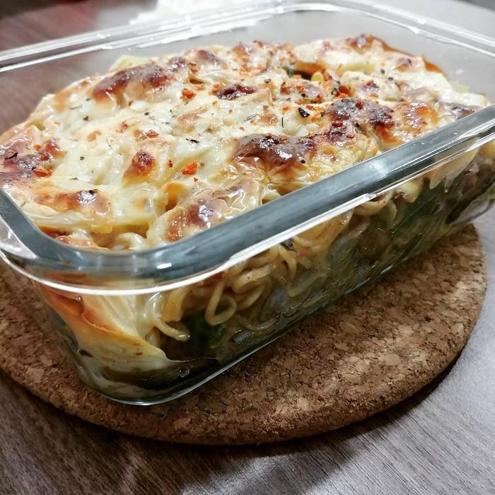 4 полезных блюда быстрого приготовления - Лапша, запеченная с окороком