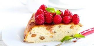 4 рецепта тортов без использования яиц Малиново-сырный пирог
