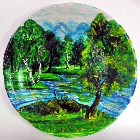 10 Расписных Тарелок c Художественными Пейзажами